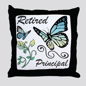 Retired Principal Throw Pillow