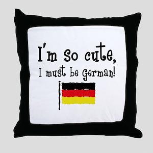 So Cute German Throw Pillow