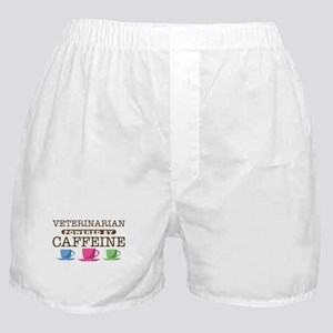 Veterinarian Powered by Caffeine Boxer Shorts