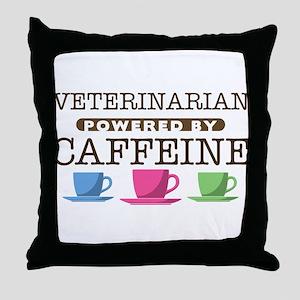 Veterinarian Powered by Caffeine Throw Pillow