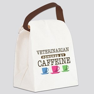 Veterinarian Powered by Caffeine Canvas Lunch Bag