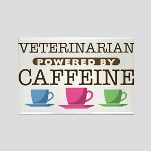 Veterinarian Powered by Caffeine Rectangle Magnet