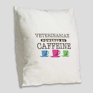 Veterinarian Powered by Caffeine Burlap Throw Pill