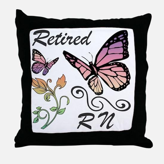Retired Registered Nurse (RN) Throw Pillow