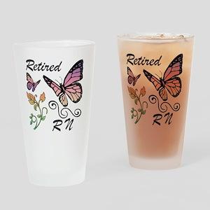Retired Registered Nurse (RN) Drinking Glass