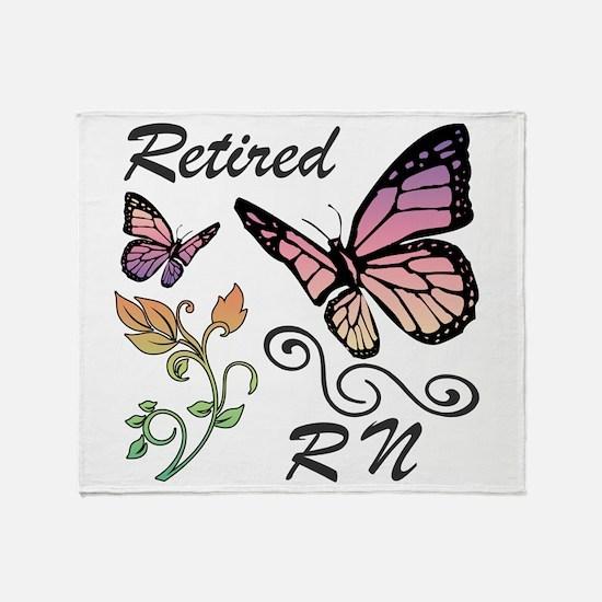 Retired Registered Nurse (RN) Throw Blanket