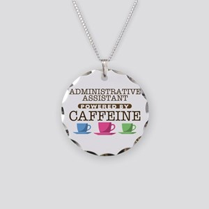 Administrative Assistant Powered by Caffeine Neckl