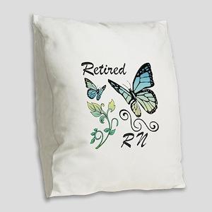 Retired Registered Nurse (RN) Burlap Throw Pillow