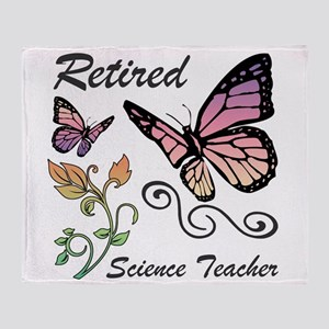 Retired Science Teacher Throw Blanket