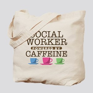 Social Worker Powered by Caffeine Tote Bag