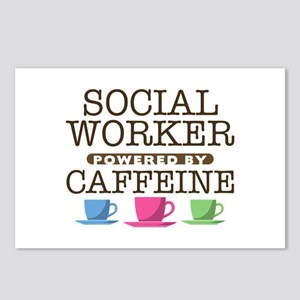 Social Worker Powered by Caffeine Postcards (Packa