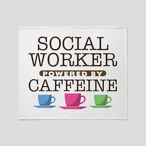 Social Worker Powered by Caffeine Stadium Blanket