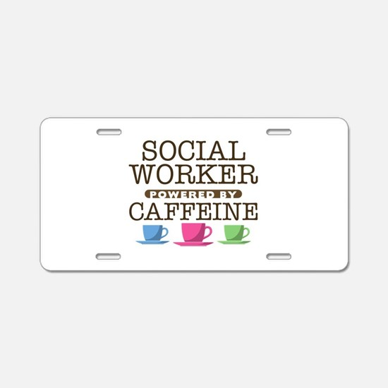 Social Worker Powered by Caffeine Aluminum License