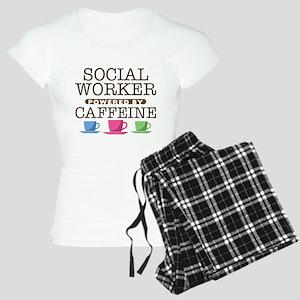 Social Worker Powered by Caffeine Women's Light Pa