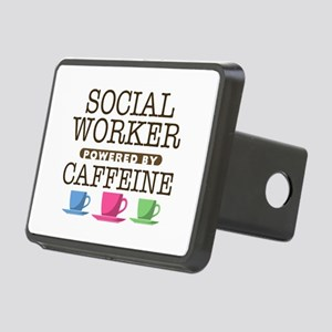 Social Worker Powered by Caffeine Rectangular Hitc