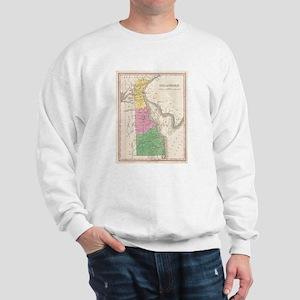 Vintage Map of Delaware (1827) Sweatshirt