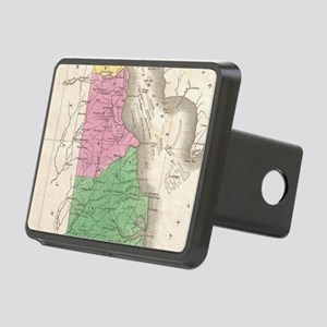 Vintage Map of Delaware (1 Rectangular Hitch Cover