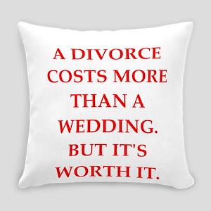 divorce Everyday Pillow