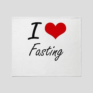 I love Fasting Throw Blanket