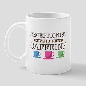 Receptionist Powered by Caffeine Mug