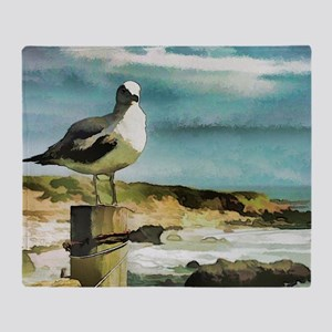 Seagull Sentry Throw Blanket