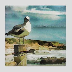 Seagull Sentry Tile Coaster