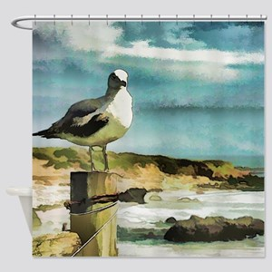 Seagull Sentry Shower Curtain