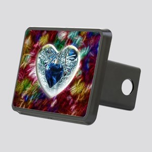 Hearts and Glitter Rectangular Hitch Cover