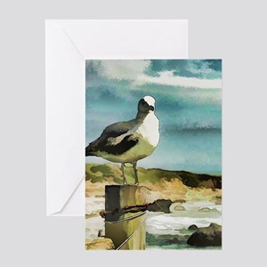 Watercolor painting greeting cards cafepress seagull sentry greeting cards m4hsunfo Image collections