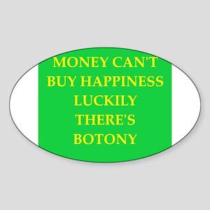 botony Sticker (Oval)