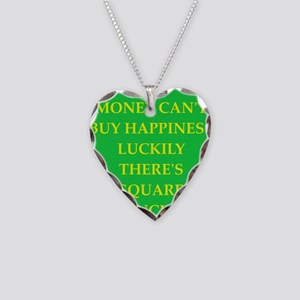 SQUARE Necklace Heart Charm