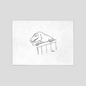 Friendly Neighborhood Dinosaur 5'x7'Area Rug