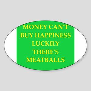meatballs Sticker (Oval)