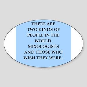 mixologist Sticker (Oval)