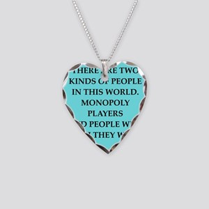 monopoly Necklace Heart Charm