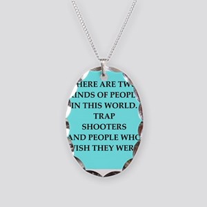 trap shooting Necklace Oval Charm