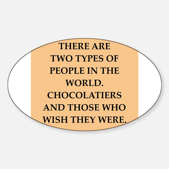 chocolate Sticker (Oval)