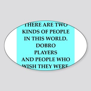 dobro Sticker (Oval)