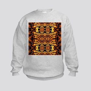 flames safari tribal pattern Kids Sweatshirt