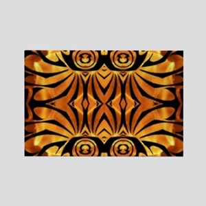 flames safari tribal pattern Magnets