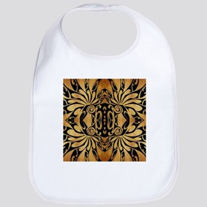 flames safari tribal pattern Bib