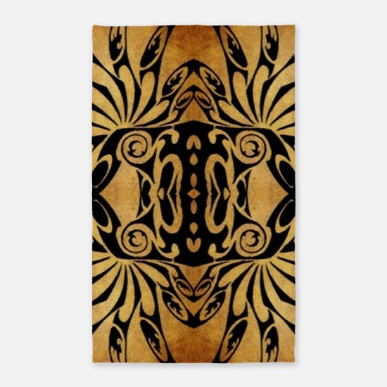 flames safari tribal pattern Area Rug