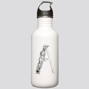 Floral Letter A Stainless Water Bottle 1.0L