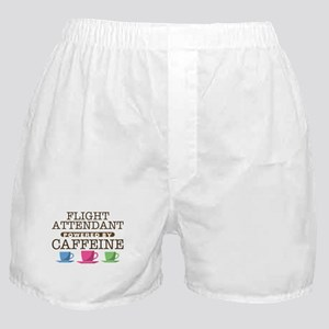 Flight Attendant Powered by Caffeine Boxer Shorts