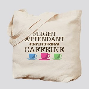 Flight Attendant Powered by Caffeine Tote Bag