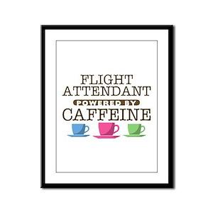 Flight Attendant Powered by Caffeine Framed Panel