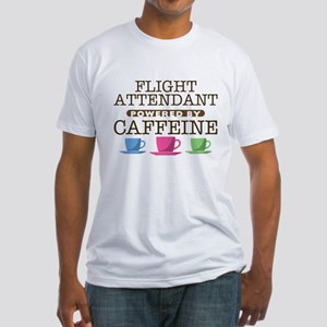 Flight Attendant Powered by Caffeine Fitted T-Shir