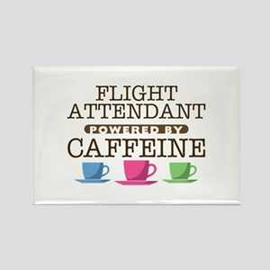 Flight Attendant Powered by Caffeine Rectangle Mag