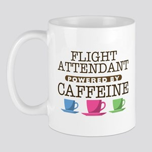 Flight Attendant Powered by Caffeine Mug