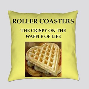 roller coaster Everyday Pillow